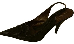 Via Spiga Suede Slingback Black Pumps