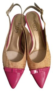 Vaneli Ditto Cork Tiffany Natural, Pink Pumps