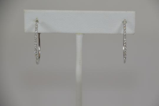 White Gold 0.21ct. Genuine Natural Diamonds 14k Solid Earrings