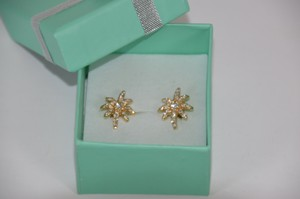 0.50ct. Genuine Diamonds Prong Set Star Earring 14k Solid Yellow Gold On Sale