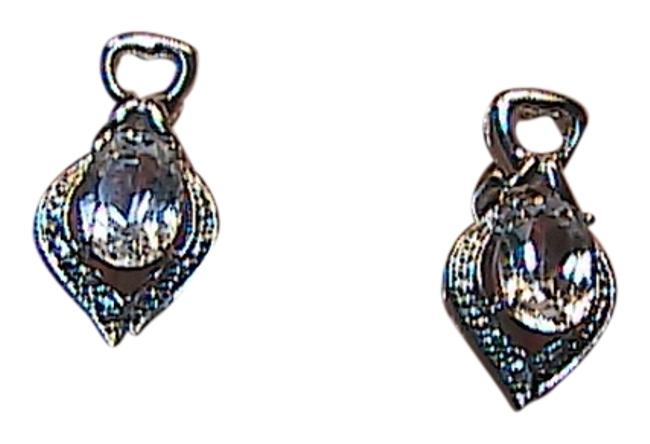 Sterling Silver White Topaz 925 1.6 Carats Stud (#2) Earrings Sterling Silver White Topaz 925 1.6 Carats Stud (#2) Earrings Image 1