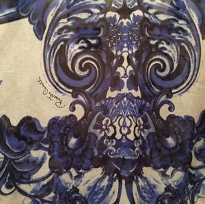 Roberto Cavalli Top Cobalt blue white