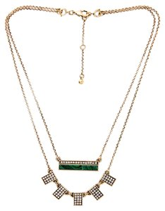 Malachite Pave Stone Necklace