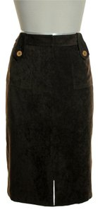 J.McLaughlin Front Slit Skirt Chocolate Brown