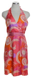 Tibi short dress Orange Multi on Tradesy