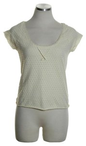 Free People Stretch Crop Lace Back Top Ivory