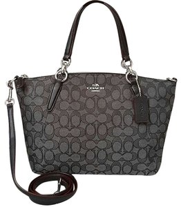 Coach Handbag Kelsey 33737 36625 Satchel in Outline C black
