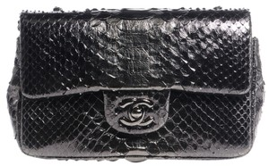 Chanel Mini Flap Python Crossbody Shoulder Bag