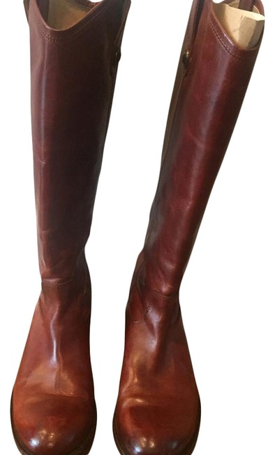 Congac Brown Melissa Pull On Boots/Booties Size US 7.5 Regular (M, B) Congac Brown Melissa Pull On Boots/Booties Size US 7.5 Regular (M, B) Image 1
