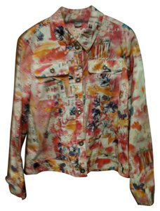 Other Neat Print Blue Jean Style Multi Jacket