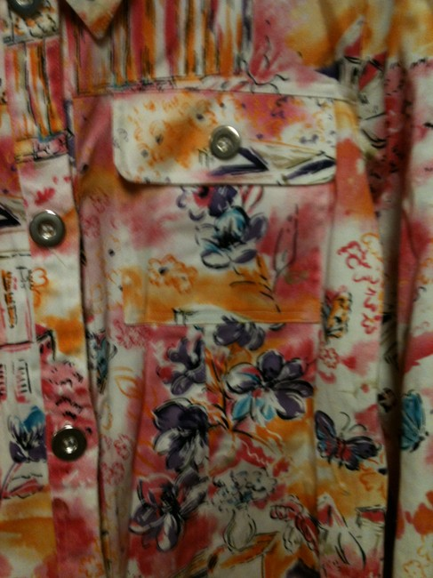 Other Neat Print Blue Jean Style Multi Jacket Image 2