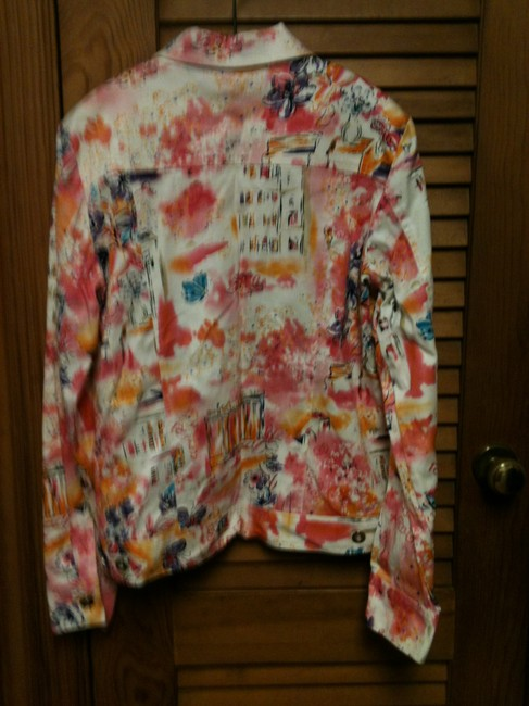 Other Neat Print Blue Jean Style Multi Jacket Image 3