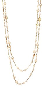 Tory Burch NEW Tory Burch Convertible Evie Pearl Rosary Necklace - 16k Gold