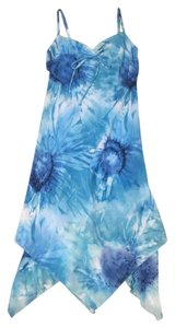 Jonathan Martin short dress Blue Floral on Tradesy