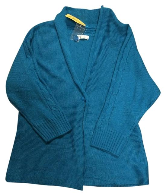 Preload https://item3.tradesy.com/images/kim-rogers-cubic-teal-one-button-rolled-collar-cardigan-jacket-s-sweaterpullover-size-6-s-1405467-0-0.jpg?width=400&height=650