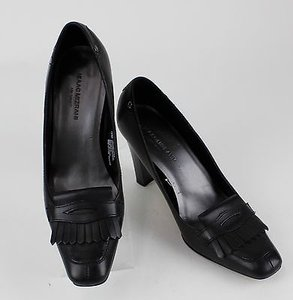 Isaac Mizrahi Target Black Fringe Detail Office Heels B38 Pumps