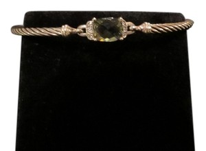 David Yurman David Yurman Petitie Wheaton Prasiolite and Diamond Bracelet 3mm, Medium