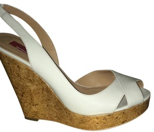 Saks Fifth Avenue Nude Wedges
