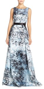 Aidan Mattox Sequined Floral Ball Gown Dress