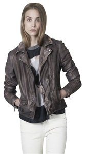 Muubaa Leather Biker Motorcycle Jacket