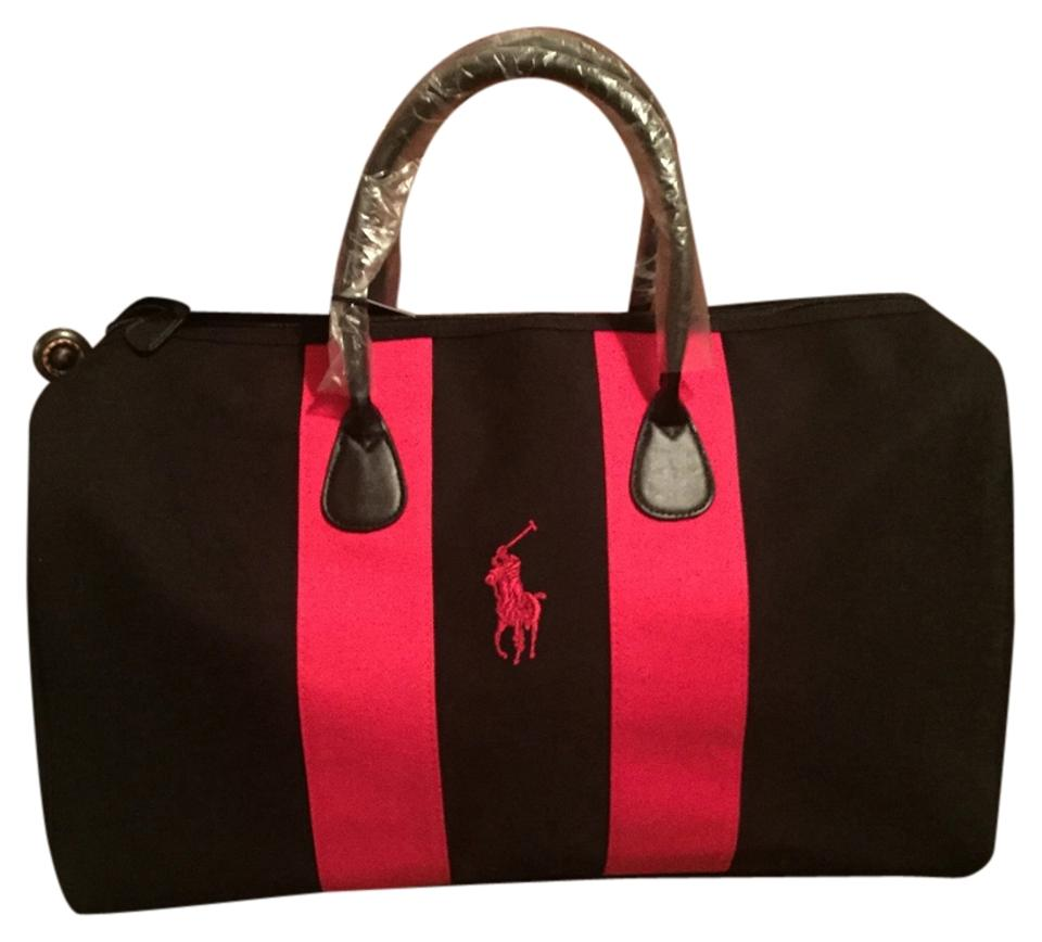 b8dcc5bc902d Ralph Lauren Black Red Weekend Travel Bag - Tradesy