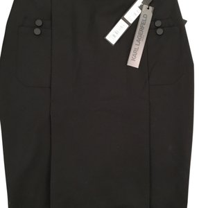 Karl Lagerfeld Pencil Chanel Workwear Skirt black