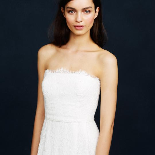 J.Crew Ivory Eyelash Lace Feminine Wedding Dress Size 2 (XS) Image 1