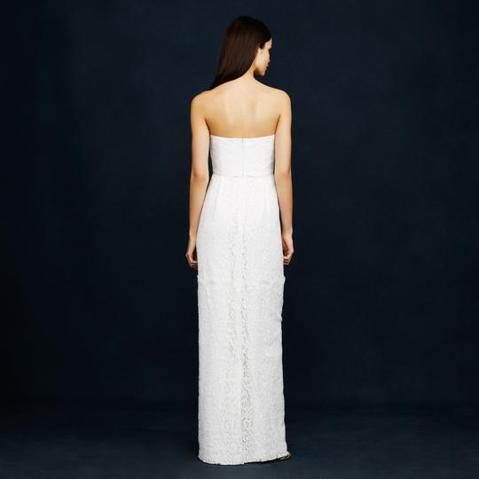 J.Crew Ivory Eyelash Lace Feminine Wedding Dress Size 2 (XS) Image 2