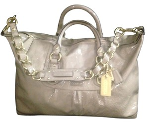 Coach Patent Leather Satchel in Camel