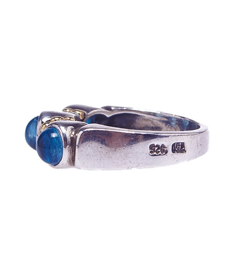 Lagos Lagos Caviar Women's Sterling Silver (925) & 18K Topaz Ring, Size 6.5