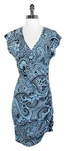 Plenty by Tracy Reese short dress Blue/Black Silk on Tradesy