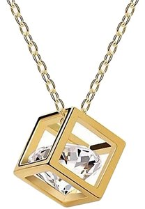 New 14K Gold Filled Cubic Zirconia in Box Pendant Small 18 in. J2300