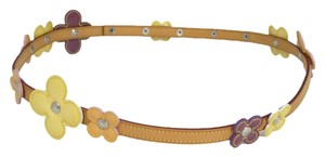 Louis Vuitton fleur flowers vernis belt
