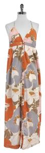 Maxi Dress by Joie Grey Orange Pink Floral Cotton Maxi