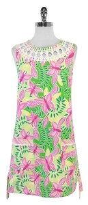 Lilly Pulitzer short dress Pink Green Butterfly Print on Tradesy