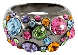 Fashionable Multi Colored Swarovski Crystal Ring