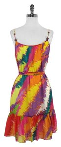 Shoshanna short dress Multi Color Spaghetti Strap Silk on Tradesy