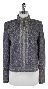 St. John Slate Metallic Wool Blend Jacket