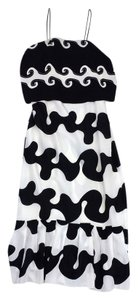 Maxi Dress by Diane von Furstenberg Black White Silk Maxi