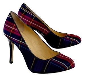 Kate Spade Multi Color Plaid Pumps