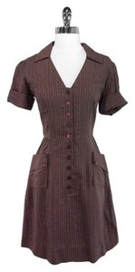 Zachary's Smile short dress Brown Viscose Cotton on Tradesy