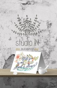 Floral Will You Be My Maid Of Honor? Card