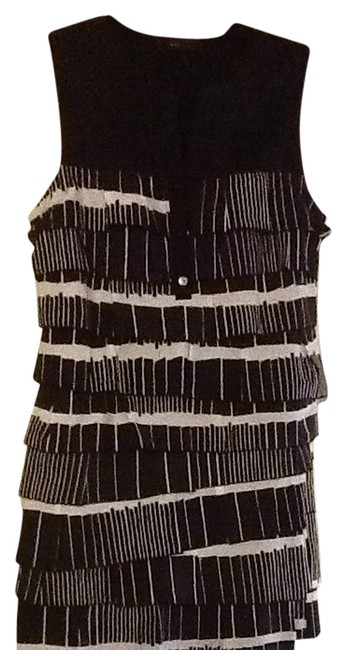 BCBGMAXAZRIA short dress black/white on Tradesy