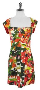 Nicole Miller short dress Floral Print Linen Sleeveless on Tradesy