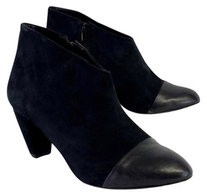 Loeffler Randall Black Leather Cap Toe Ankle Boots