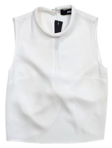 Nicholas Kirkwood White Sleeveless Twist Back Sweater