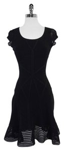 Diane von Furstenberg short dress Black Cap Sleeve Flared on Tradesy