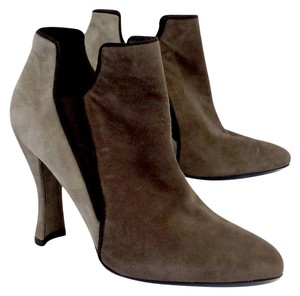Stuart Weitzman Brown Taupe Suede Boots