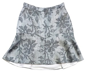 MANNING CARTELL Black White Grey Print Skirt