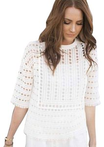 Tory Burch Crochet Top Ivory